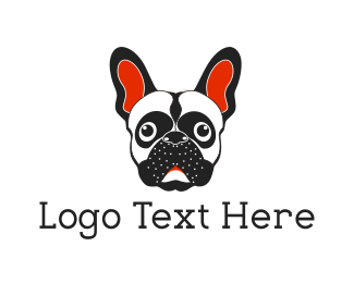 Boston Terrier - French Bulldog logo design