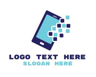 """""""Pixel Mobile App"""" by LogoBrainstorm"""