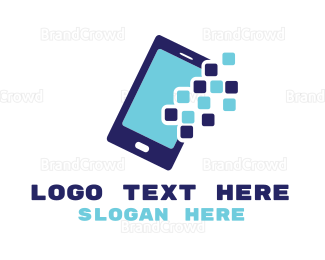 Text Message - Pixel Mobile App logo design