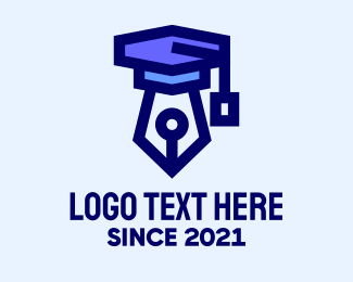 University - Blue Writing Academy logo design