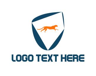Panther - Feline Shield logo design