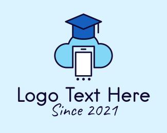 Online Learning - Online Class Cloud Storage logo design