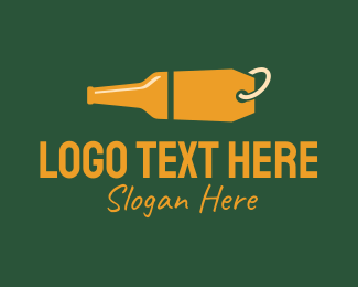 Beer Bottle - Alcohol Bottle Price Tag Sale logo design