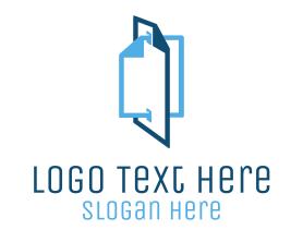 Blue File Documents Logo