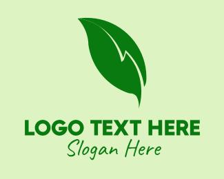 May - Electric Leaf logo design