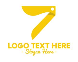 Curve - Salon Number 7 logo design