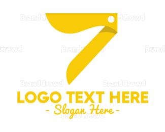 Cutting - Salon Number 7 logo design