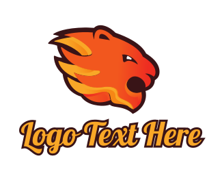 Baseball - Fire Tiger logo design