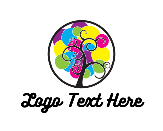 Scrapbook - Colorful Tree logo design