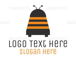 Robot - Wasp Robot logo design