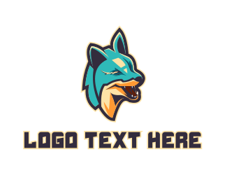 Wolf Pack - Blue Fox Gaming logo design