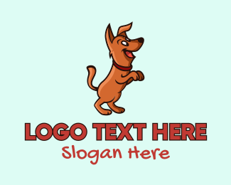 Pet Accessories - Happy Dog Cartoon logo design