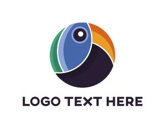 Tropical - Abstract Toucan logo design