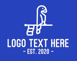 Macaw - Bird Flagstick logo design