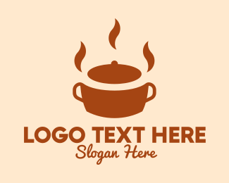 Steam - Brown Hot Pot logo design