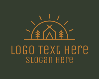 Supplies - Camping Camp Tent logo design