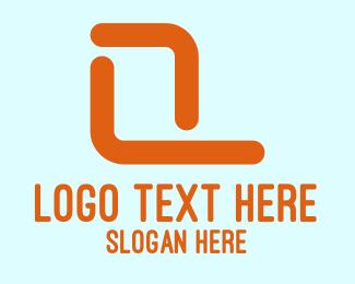 Lines - Abstract Orange Letter P logo design