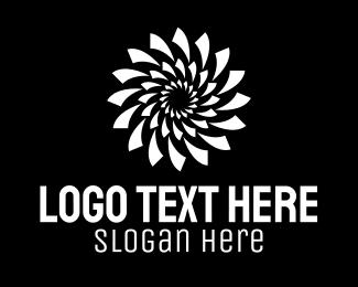 Optical - Spiral Optical Illusion logo design