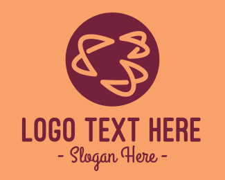 Maroon - Abstract Round Scribbles logo design