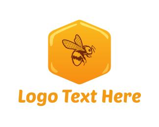 Beehive - Honey Bee logo design
