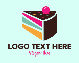 Cake - Layer Cake Slice logo design