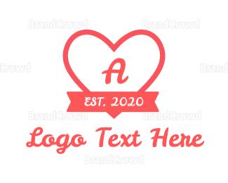 Cupid - Valentine Heart Lettermark logo design