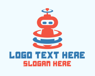 Cartoonish - Cute Robot Signal logo design
