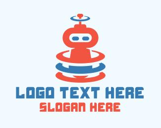 Signal - Cute Robot Signal logo design