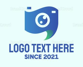 Camera Rental - Blue Stylish Video logo design