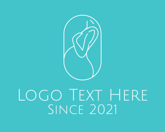 Maternity - Pregnant Woman logo design