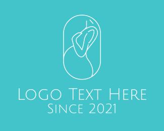 Gynecologist - Pregnant Woman logo design