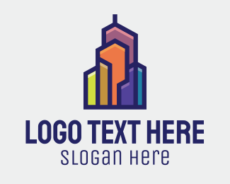 Trendy - Color Block Building  logo design