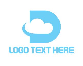 Atmosphere - Cyan D Cloud logo design