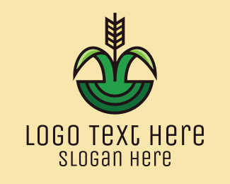 Flour - Organic Rice Field  logo design