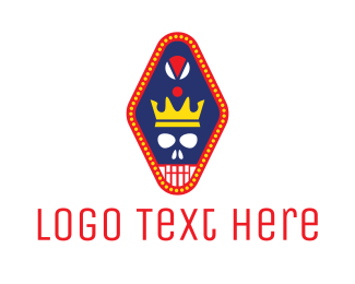 Cancun - Crown Skull Pendant  logo design