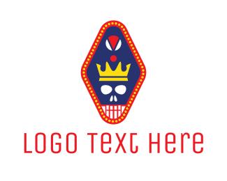 Taqueria - Crown Skull Pendant  logo design