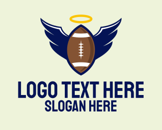 Halo - Angel Football Wings logo design