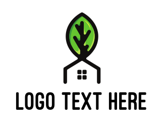 Eco Energy - Leaf  & House logo design