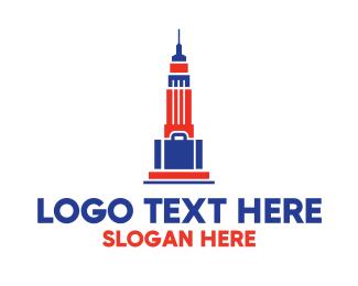 Suitcase - Empire State Bag  logo design
