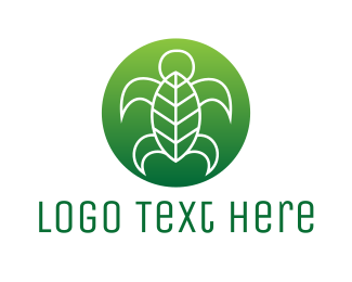 Sea Turtle - Sea Turtle Leaf logo design