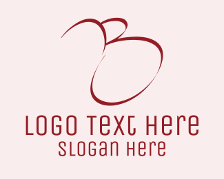 Sleek - Red Letter B logo design