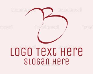 Letter B - Red Letter B logo design