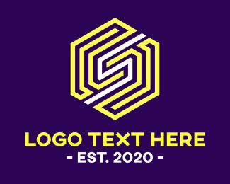 """Hexagon Maze Letter S "" by realdreams"