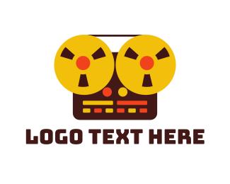 Electronic - Vintage Recorder logo design