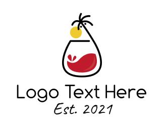 Milkshake - Tropical Red Iced Tea logo design
