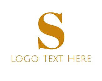 Golden Letter S Logo