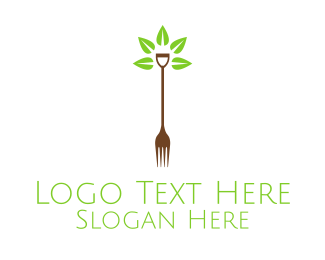Shovel - Organic Farm Food logo design