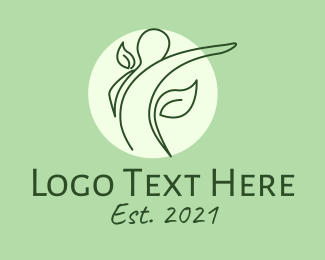 Human - Wellness Human Monoline logo design