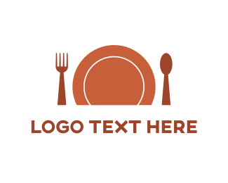 Dish - Orange Cutlery logo design