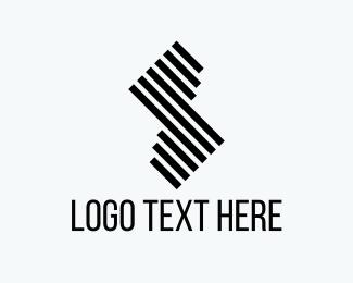 Stripe - Abstract Letter S logo design